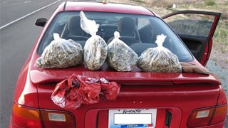 Four pounds of marijuana found in man's trunk. (Source: Yavapai County Sheriff's Office)