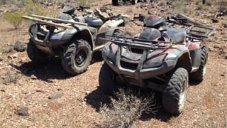 Two ATVs seized. (Source: U.S. Customs and Border Protection)