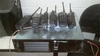 The task force confiscated two-way radios. (Source: U.S. Customs and Border Protection)