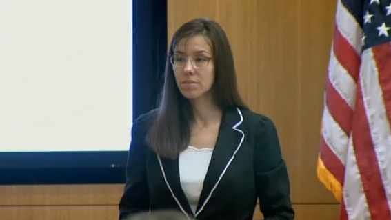 Jodi Arias during the trial (Source: CBS 5 News)