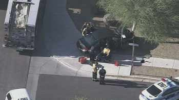 Officers investigate the scene in the area of 3800 West Pollack. (Source: KPHO-TV)
