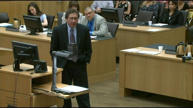 Martinez emphasized the lies Arias has told.  (Source: CBS 5 News)