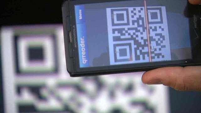 QR (quick response) readers are just part of the technology now utilized by the U.S. Forest Service in battling wildfires. (Source: CBS 5 News)