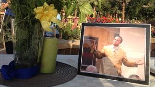 Sunday's memorial at Wesley Bolin Park in Phoenix. (Source: Rebecca Thomas, cbs5az.com)