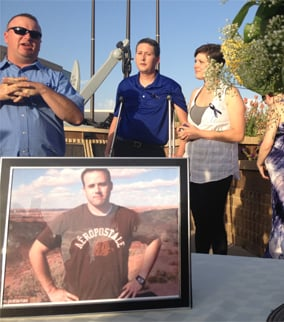 Travis Alexander remembered at vigil. (Source: Rebecca Thomas, cbs5az.com)