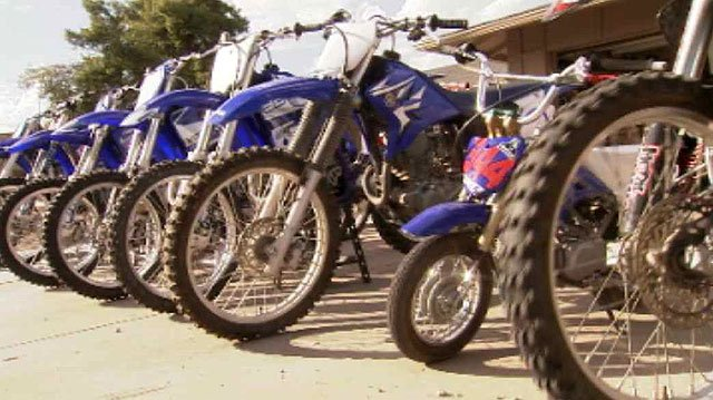 The men's company, Down2Mob, buys used dirt bikes from individual sellers and Craigslist, repairs them and sells them at a discount. (Source: CBS 5 News)
