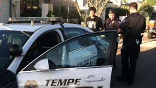 Police take Joshua Prater into custody. (Source: Tempe Police Department)