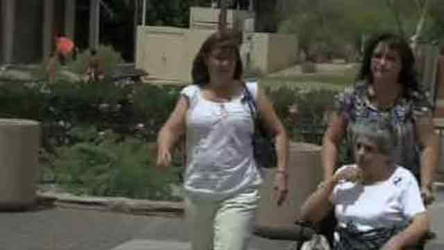 Arias family arrives at the courthouse for the verdict. (Source: KPHO-TV)