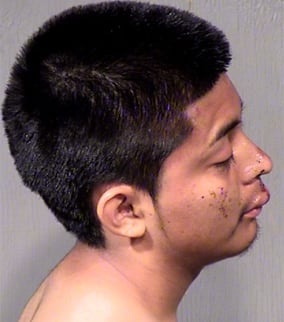 Hugo De Leon missed hitting the officer by mere feet, police said. (Source: Maricopa County Sheriff's Office)