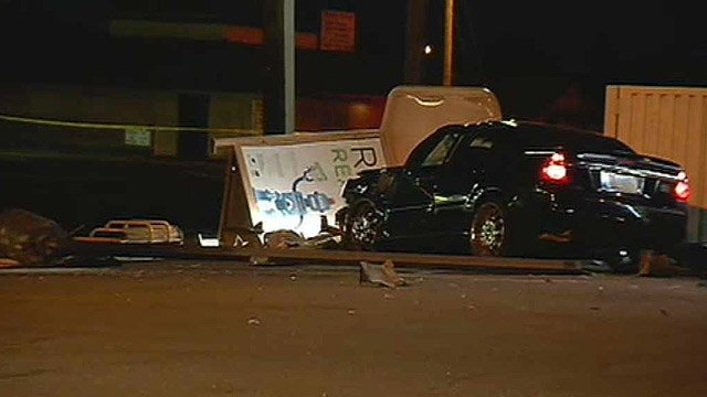 One person died after being hit at this bus stop by a sedan early Monday morning. (Source: CBS 5 News)