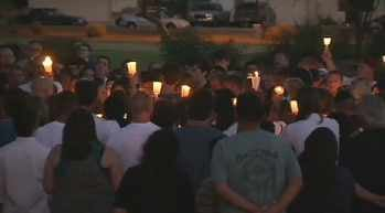 A candlelight vigil was held Tuesday evening at Desert Valley Park. (Source: CBS 5 News)