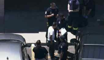Four business partners began fighting. Two were stabbed. (Source: CBS 5 News)
