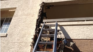 Firefighters responded to a balcony fire at a Phoenix apartment complex. (Source: CBS 5 News)