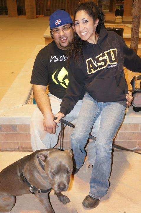 Crash victim Juan Rodriguez with his fiance Amanda Lujan.