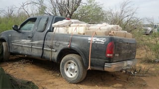 Abandoned pickup filled with 1,839 pounds of marijuana. (Source: U.S. Customs and Border Protection)