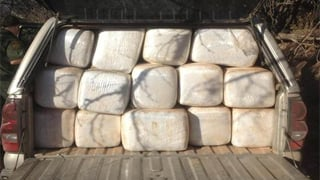Another  pickup found near Tombstone, loaded with 77 bundles of marijuana. (Source: U.S. Customs and Border Protection)