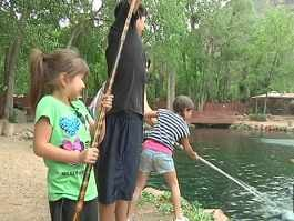 Grab a fishing pole and cool off at sedona 39 s rainbow trout farm arizona 39 s family - Trout farming business family mountains ...
