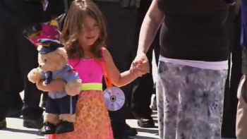 Tatum Raetz, 5, graduated from kindergarten at Ridgeline Academy in Anthem. (Source: CBS 5 News)