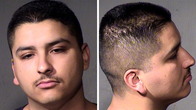 Angelo Medina, 22, was arrested in connection with a double shooting in Glendale that left a woman dead and a man wounded. (Source: Maricopa County Sheriff's Office)