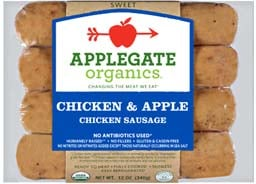 Applegate Organics Chicken and Apple Sausage was recalled on Wednesday.