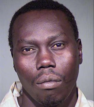 Mabior Ding, 32, in a previous booking photo, faces possible charges of manslaughter and leaving the scene of a fatal collision. (Source: Maricopa County Sheriff's Office)
