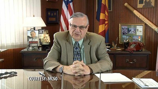 Maricopa County Sheriff Joe Arpaio said in a pre-recorded statement that he will change how he enforces illegal immigration in Maricopa County. (Source: Maricopa County Sheriff's Office)