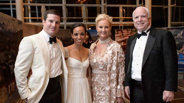 Jack McCain, Renee Swift, Cindy McCain, John McCain (Source: Crisman Studios)