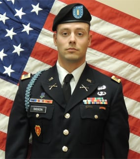 2nd Lt. Justin Lee Sisson of Phoenix. (Source: Fort Campbell)