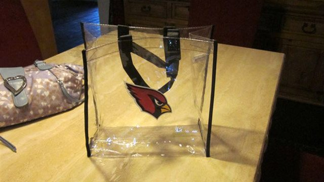 The Arizona Cardinals sent these compliant bags to season-ticket holders this month. (Source: Arizona Cardinals)
