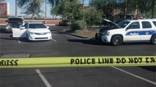 The shooting happened at 99th Avenue and Camelback Road. (Source: Sean Gates, cbs5az.com)