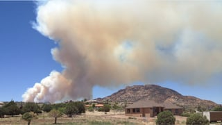 Dolce wildfire northwest of Prescott. (Source:  Lisa Fundak)