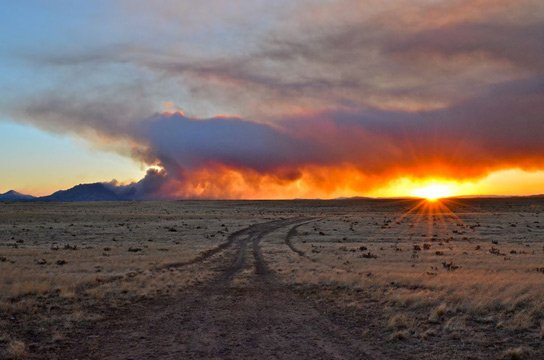 Doce Fire near Prescott. (Source: Richard Fowler)