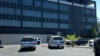 Large police presence at Phoenix office shooting. (Source: Mike Williams, cbs5az.com)