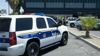 Officers are looking for gunman who got away. (Source: Mike Williams, cbs5az.com)