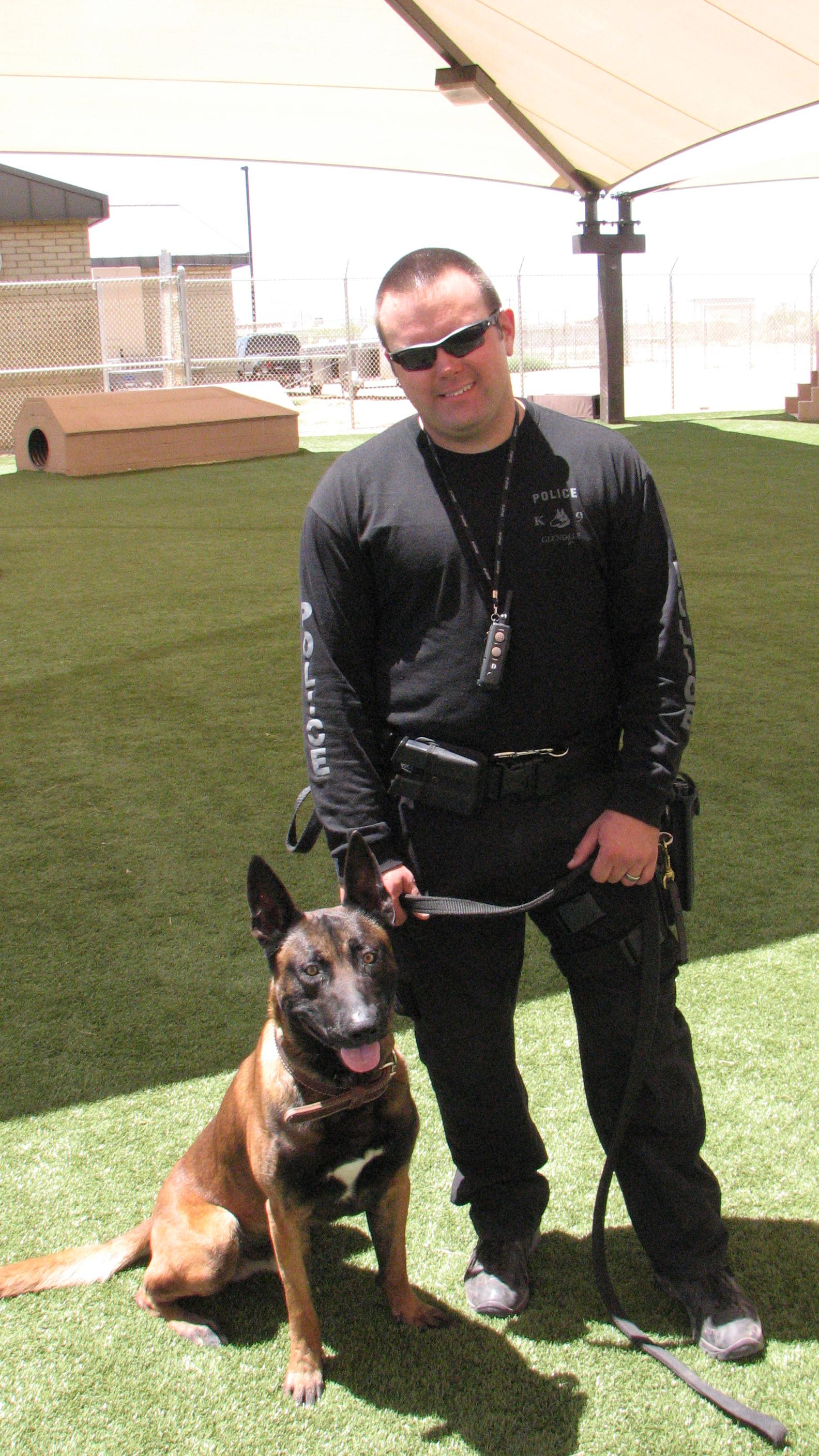 Officer Wes Zygmont with Ronin (Source: Glendale Police Department)