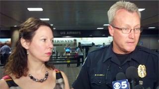 "Sky Harbor Airport and police give ""all-clear"" signal. (Source: Christina Batson, cbs5az.com)"