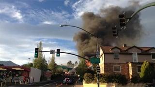 A Flagstaff Bashas' store caught fire Monday night. (Source: Logan Phillips)