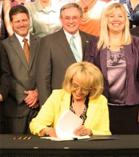 Gov. Brewer signs HB 2111, transaction privilege tax changes, into law. (Source: CBS 5 News)