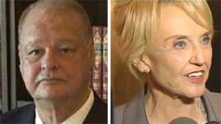 Tom Horne, Gov. Jan Brewer (Source: CBS 5 News)