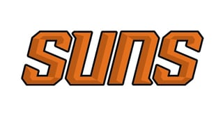 """The """"SUNS"""" word mark was featured on the team's new court last season. (Source: Phoenix Suns)"""