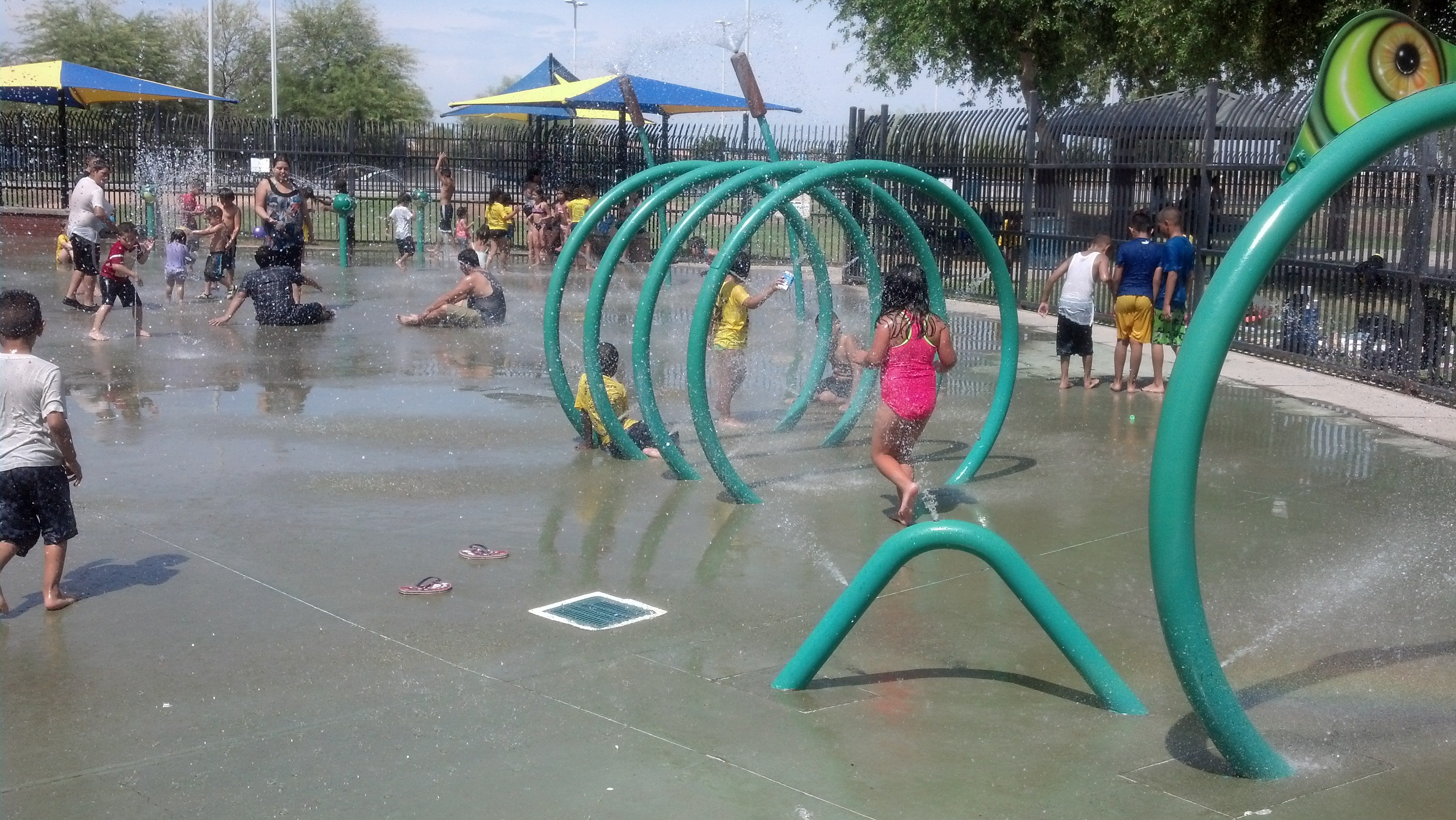 Kids cool off in Phoenix