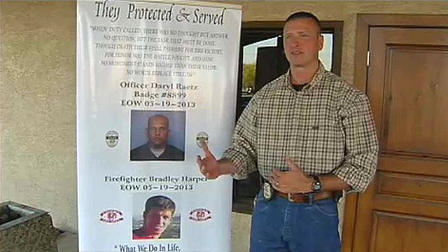 Phoenix police detective Mike Wilcox says all the money raised at Friday's event will go to the families of Daryl Raetz and Bradley Harper. (Source: CBS 5 News)