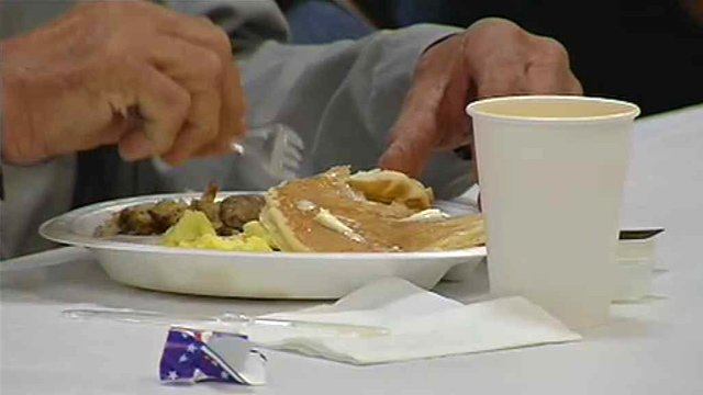 All the food and raffle prizes are donated, and Phoenix police provide the manpower for such events. (Source: CBS 5 News)