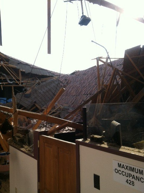 Roof at TCAA Church collapses