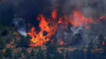 The wildfire is burning northwest of Yarnell. (Source: CBS 5 News)