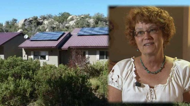 Jerry Jones-Florman was evacuated from her home on Sunday afternoon after the Yarnell Hill Fire threatened her life and the lives of about 600 other Yarnell residents. (Source: CBS 5 News)