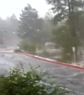 Storm hits Flagstaff with heavy rain and hail. (Source: Viewer Karen Lough)