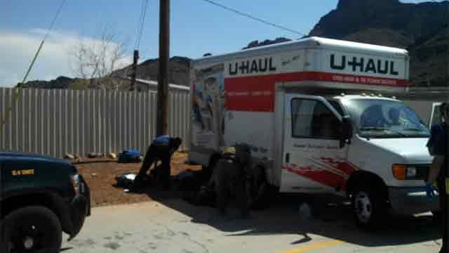 Some of the occupants were found lying outside the U-Haul. (Source: Pinal County Sheriff's Office)