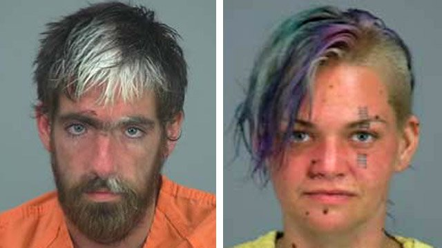 Nathan Lamb, left, and Elizabeth Kay are suspected of driving and alter abandoning a U-Haul loaded with suspected undocumented immigrants. One of the immigrants died and the pair could face murder charges. (Source: Pinal County Sheriff's Office)