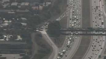 Huge backup I-10 eastbound at  43rd Avenue. (Source: CBS 5 News)
